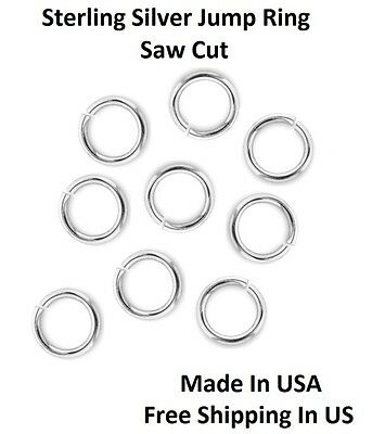 Wholesale 20 Ga Sterling Silver 6 MM O/D Open Jump Ring (Saw Cut) Made In USA