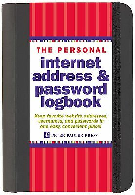 Address Personal Internet Password Book Log Logbook Large Hardcover spiral 144 P