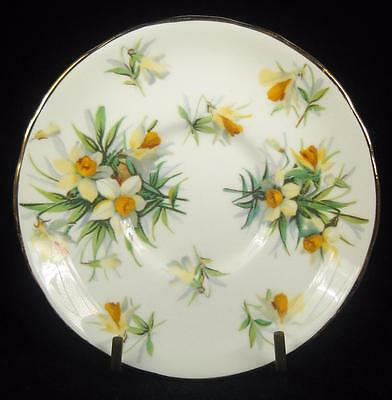 Hammersley Yellow/White Narcissus Flowers Bone China Small Orphan Saucer