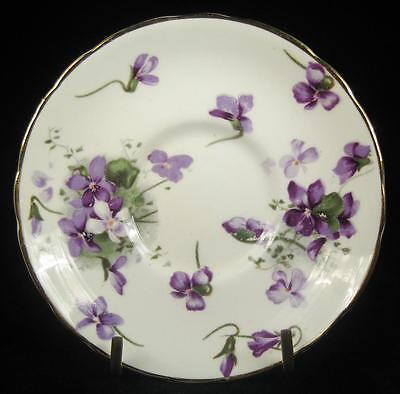 Hammersley 'Victorian Violets' Bone China Small Orphan Saucer (2 available)