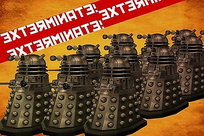 XL Doctor Who The Daleks Exterminate Canvas Picture Wall Art