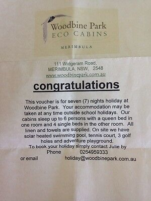 7 Nights Accomodation Woodbine Park Merimbula For Up To 6 People