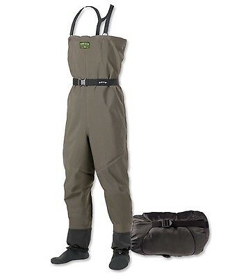 New Orvis Pack & Travel Sonic Breathable Stockingfoot Chest Waders 9X8R-0163