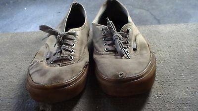 Beige Vans shoes Authentic used trashed size 9 US