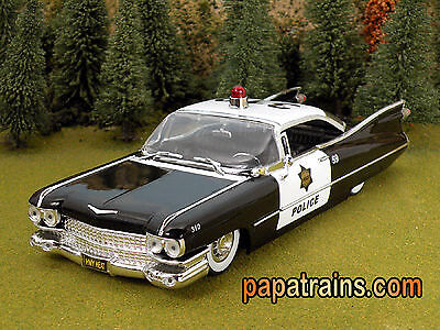 Die Cast 1959 Cadillac Police Car G Scale 1:24 by Jada 59 Caddy