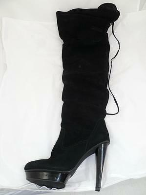 752995758e8 STEVE MADDEN XENNON Used 8 Suede Leather Over The Knee/high Riding  Boots/heels