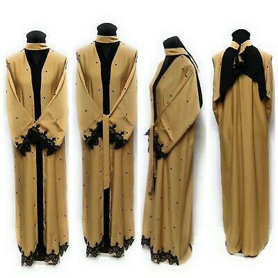Women open front abaya.saudi abaya japanese Neda/sizes 54.56.58.New Arrival 2017