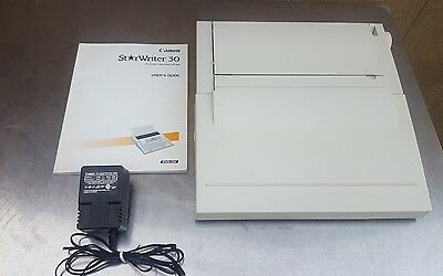 Canon StarWriter 30 Personal Publishing System/Word Processor w/User Guide