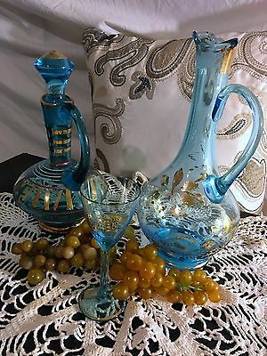 Gold Gilt Decanters