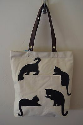 Sleepyville Critters Playful Cats - Canvas Tote Bag