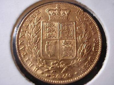 Great Britain UK 1844 Soveriegn Shield Gold Coin #ZY1b