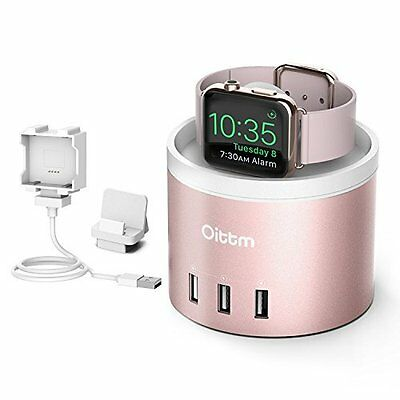 Apple Watch Series 2 Charging Stand Nightstand Mode 4-Port USB Rose Gold NEW HQ