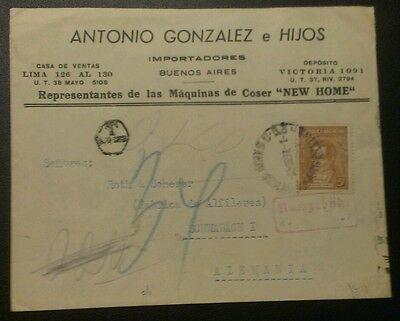 ARGENTINA 5c NEW HOME SEWING MACHINE ADVERTISING COVER