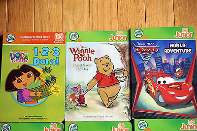 Lot of 10 Leapfrog Tag Junior Books Dora Winnie Cars Curious George + more