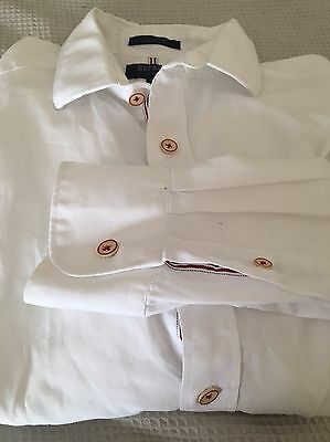 Men's Oxford Slim Fit White Business Shirt Size Small