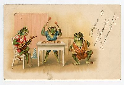 Grenouilles humanisées. Cirque. Clowns . Humanized frogs . Circus . Musicians.