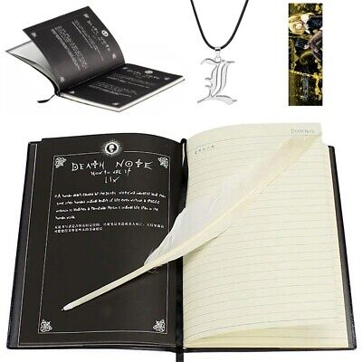 NEW Death Note Book Cosplay Notebook Journal Diary Anime Manga - UK Stock