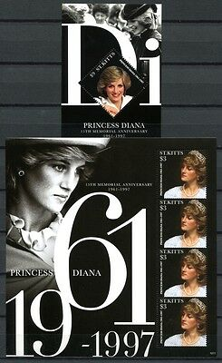 St. Kitts 2012 Lady Diana 15. Todestag Royaltay Brit. Königshaus Postfrisch MNH