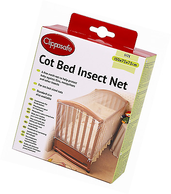 Clippasafe Cot Bed Insect Net Very Strong And The Open Weave Mesh Protected