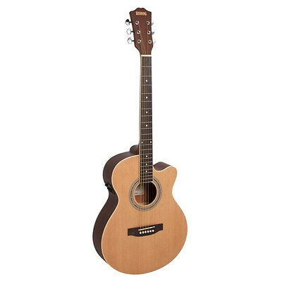 Redding Grand Concert Acoustic Electric Guitar, Spruce top. Mahogany Body