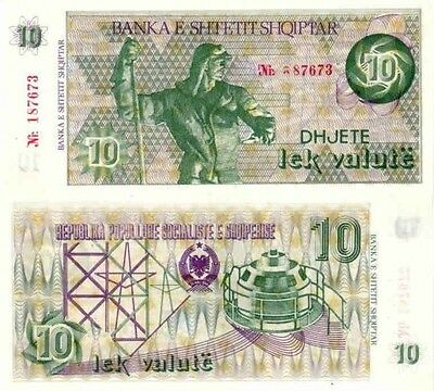Albania 10 Lek Valute Paper Money, Banknote of 1992. P#49A. UNC