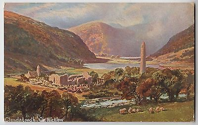POSTCARD - artist drawn, Glendalough, County Wicklow, Ireland