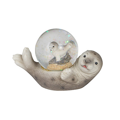 New Resin Snow Dome Seal 9.5X5.7X6.3Cm Home Decor Small