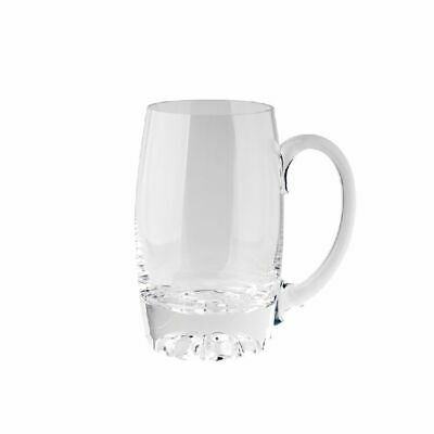 NEW CLEAR TROPHY CUP GLASS LAUREL MED 22cm H