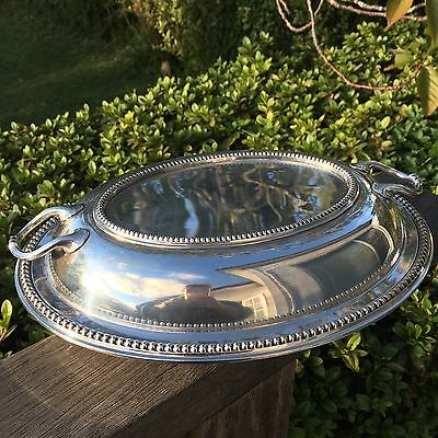 Stunning Vintage Antique Silver Plated Lidded Serving Dish James Dixon & Sons