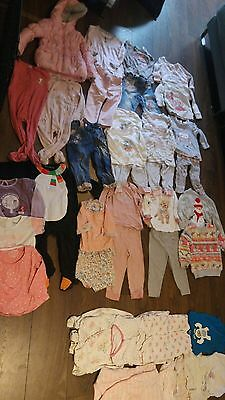 LARGE BUNDLE 12-18 Months baby girl Next Mothercare + more 53 pieces of clothing