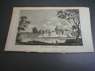Chepstow Castle (Chepftowe Caftle), 18th Century Antique Engraving