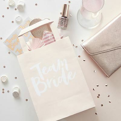 Team Bride Party Bags with Handles x 5 Hen Party Goodie Bags