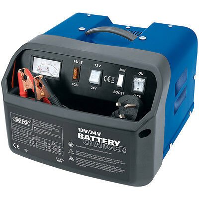 Draper 11964 12 Volt & 24 Volt 30A Amp Battery Charger Booster Can Lorry Van