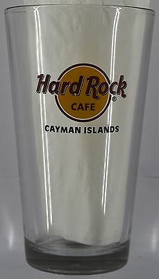 NEW Hard Rock Cafe CAYMAN ISLANDS PINT BEER GLASS-FREE SHIPPING Drink Souvenir