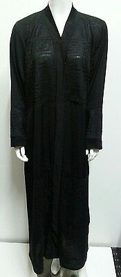 Women open front abaya.dress . saudi abaya japanese Neda/linen.New Arrival.52&54