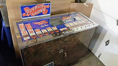 "1960's JJ PARKER ""OVER and UNDER"" Craps Dice Game ANTIQUE Gambling Slot Machine"