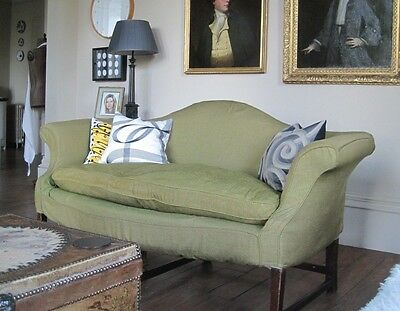 ANTIQUE Georgian camel-back serpentine front SOFA SETTEE - SUPER & ELEGANT