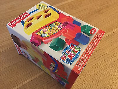 AFFAIRE : Fisher-Price Brillants Basics 10 cubes  : Comme neuf : RARE !!