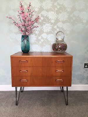 G PLAN Mid Century (1960's) Teak Chest of Drawers/Sideboard on Hairpin Legs