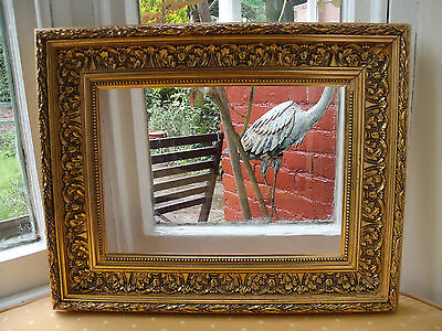 Ornate Vintage Antique Style Gilt Coloured Picture Frame (At14)