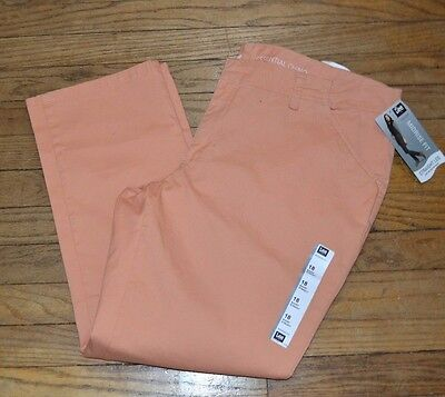 Lee MidRise Fit Essential Chino Straight Leg Spring Pants Size 18 Short