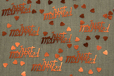 JUST MARRIED Ruby Red Wedding Table Confetti Decoration Scatter Sprinkles