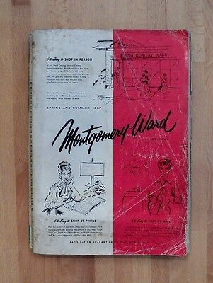 RARE Vintage 1957 Montgomery Ward Spring & Summer Catalog Good Cond 980 Pgs.