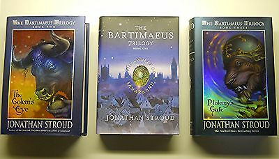 The Bartimaeus Trilogy: Lot of Books 1, 2 and 3, Hardcover & Dust Jackets Stroud
