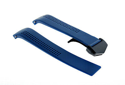 20Mm Rubber Strap Band Clasp For  42Mm Tag Heuer Aquaracer Calibre 5 Blue 17Rcb