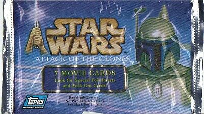 STAR WARS - Attack of the Clones Movie Card Packs (19) #NEW