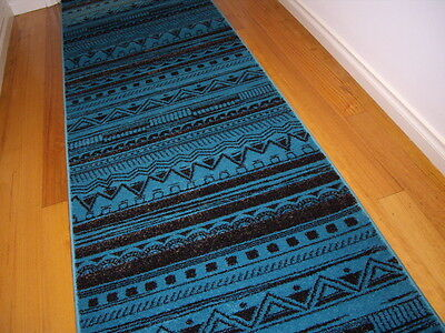 Hallway Runner Hall Runner Rug Turquoise 300cm Long x 80cm Wide Free Delivery