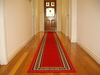 Hallway Runner Hall Runner Rug Modern Red 5 Metres Long FREE DELIVERY 51837