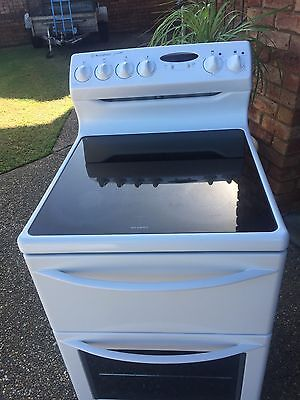 Westinghouse 54cm Wide Ceramic Top Fan Forced Electric Upright Stove Top Cond