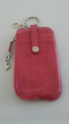 Brighton Twister Flmg Id Card And Phone Wallet Patent Leather Pink. E937Ag